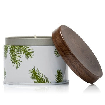 Thymes Frasier Fir Candle Tin is a festive way to share your favorite home fragrance. Evoking Frasier Fir's forest inspiration, this candle comes in a double-walled tin decorated to enhance any decor. Makes a perfect stocking stuffer or hostess gift. Non-metal wick provides a clean burn. Burn time of approximately 36 hours. 6.5 oz.