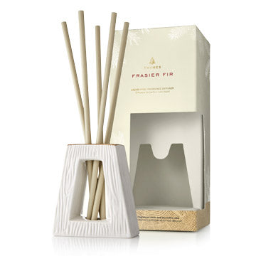 The aromatic snap of crisp Siberian Fir needles, heartening cedarwood and relaxing sandalwood fills the air with a welcome feeling of warmth and joy. Experience the fresh-cut forest scent of Frasier Fir without the use of oil. Add your Liquid-free Fragrance Diffuser Refill reeds into your vase, and add or subtract reeds to increase or decrease fragrance experience.