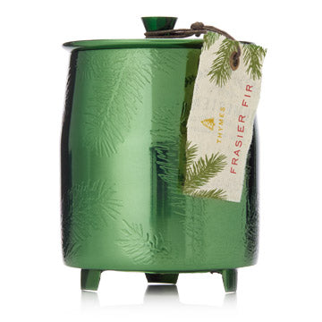 Bring the mountain fresh scent of Frasir Fir into your home. This crisp, just-cut forest fragrance evokes memories of cherished holidays spent with loved ones. Share the joy, this makes a perfect hostess gift for the holiday season.   Non-metal wick provides a clean burn. Burn time of approximately 56 hours. 9.5 oz.