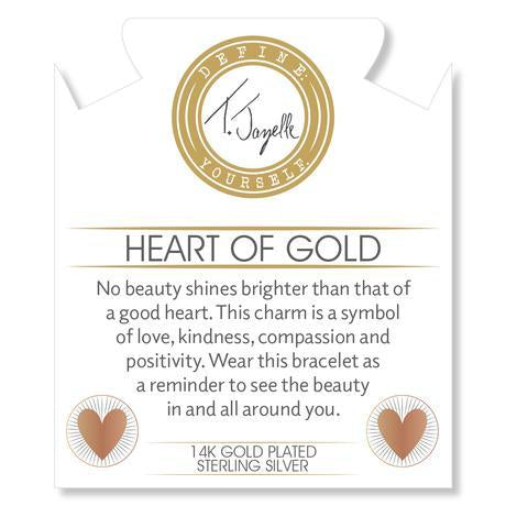 Heart of Gold Charm- No beauty shines brighter than that of a good heart. This charm is a symbol of love, kindness, compassion and positivity. Wear this bracelet as a reminder to see the beauty in and all around you.