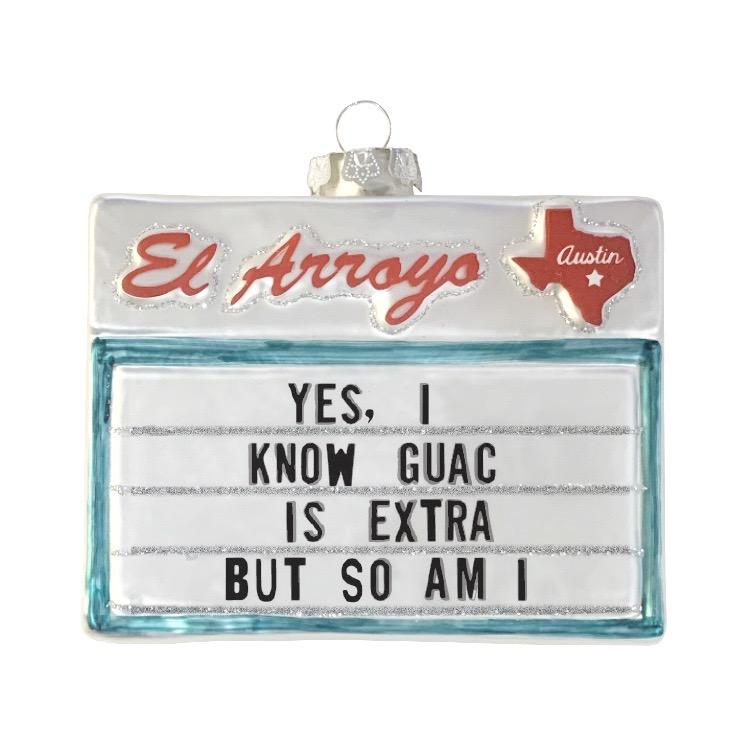 Just put out the holiday decorations now and let's wrap this year up. NEW from El Arroyo their beloved signs commemorated in the perfect 2020 keepsake for your tree.   Collectable mercury glass ornament
