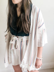 Loving Together Striped Kimono