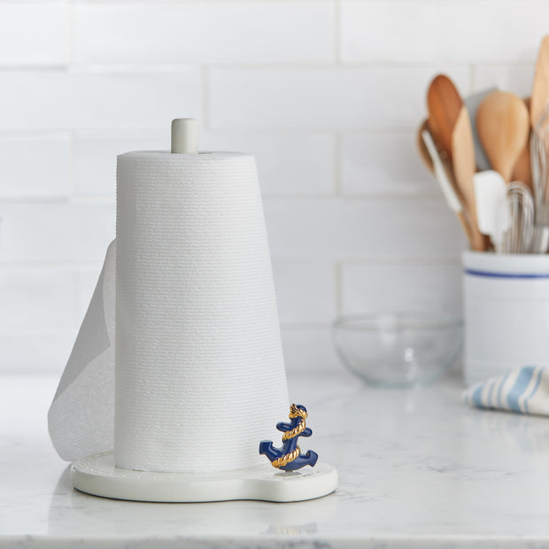 Keep your countertops stylin' with this Nora Fleming melamine paper towel holder! You'll always have your towels on hand, and a cute mini on display at all times too!