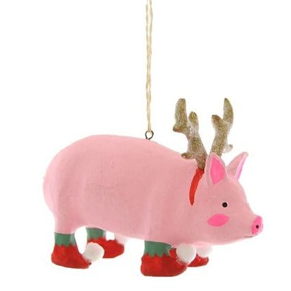 Dressed and ready for the holiday party this Merry Making Menagerie Pig Ornament is perfect for the pig enthusiast on your list.