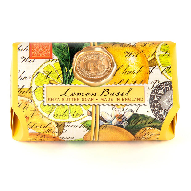 This soap bar from Michel Design Works contains pure vegetable palm oil, glycerine, and rich, moisturizing shea butter. Each piece is triple‐milled, and painstaking care ensures a product that is thoroughly‐blended, firm, long lasting, and silky smooth.