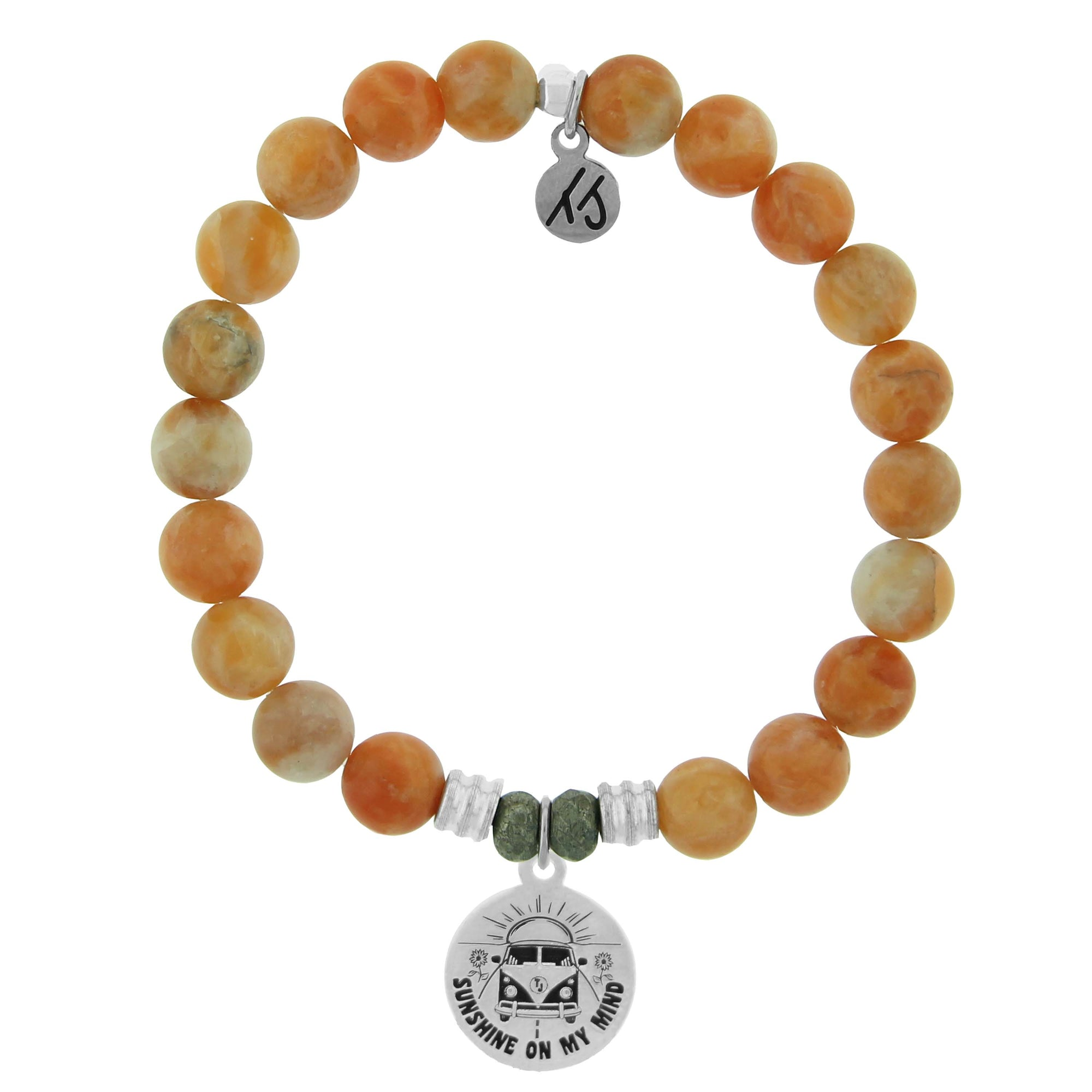 Orange Calcite is known as the stone of drive and motivation.  Life's a Journey Sterling Silver Charm- Seek what makes your soul happy and enjoy life's ride. Through life's twists, turns and different routes know that it all directs you to your destiny. You steer the path to your happiness.