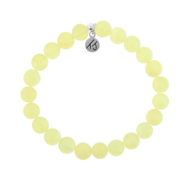 Yellow Calcite Handmade Beaded Bracelet- The stone of Confidence and positivity.  Yellow Calcite stones are natural therefore Yellow Calcite bracelet color may slightly vary from Yellow Calcite bracelet to Yellow Calcite bracelet. Each and every Yellow Calcite bracelet is truly unique.