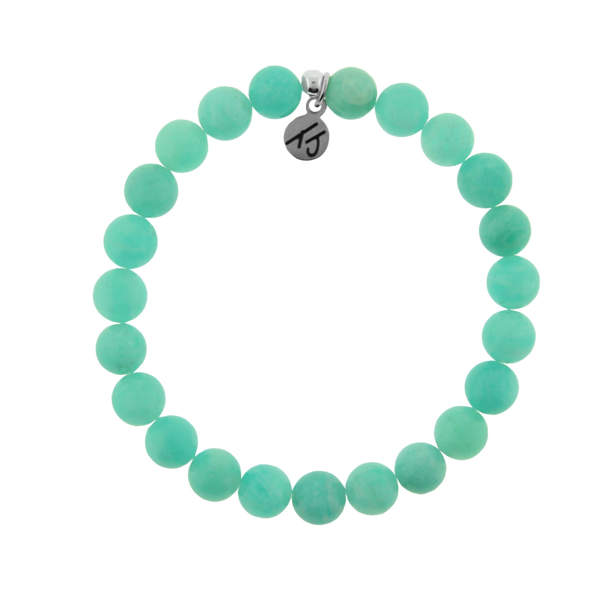 Classic Peruvian Amazonite Stacker 8mm Stone Bracelet- Known as the stone of soothing energy and calmness.