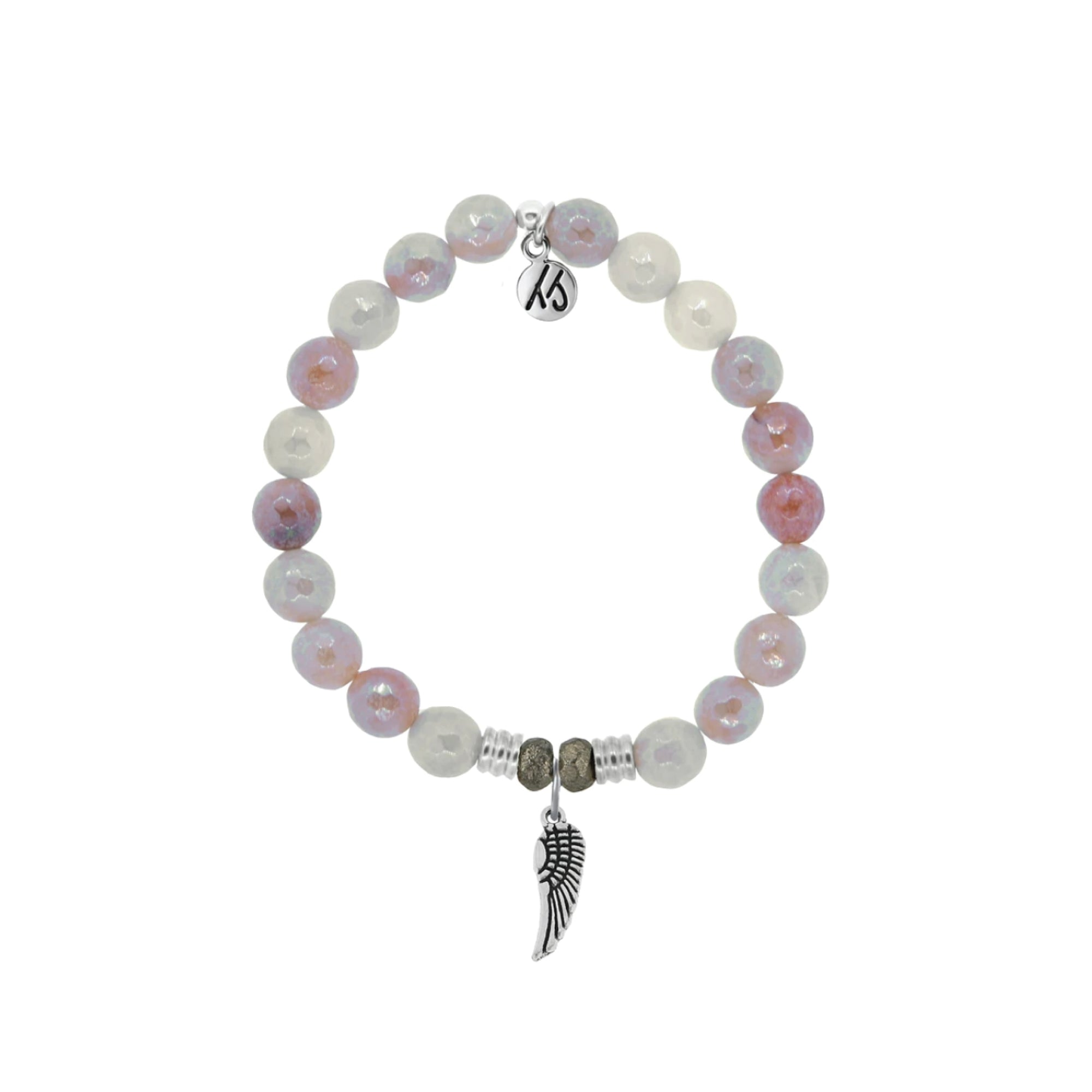 An Angel Wing is known to have the symbolic meaning of faith, renewal, protection and love. Wear your Angel Wing Amethyst charm bracelet as a reminder that your guardian angel is always with you.