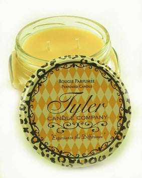 Say hello to fall with the Tyler Candle Company. Their unique blend of soy and paraffin wax has produced one of the finest scented candles on the market. Tyler uses the finest quality waxes and opulent fragrance oils available to create the ultimate aroma experience. Each candle is hand-poured, ensuring even burning and maximum fragrance saturation. All jars are guaranteed to fragrance a room in minutes!  Choose from the following scents:   Homecoming Mulled Cider Pumpkin Spice