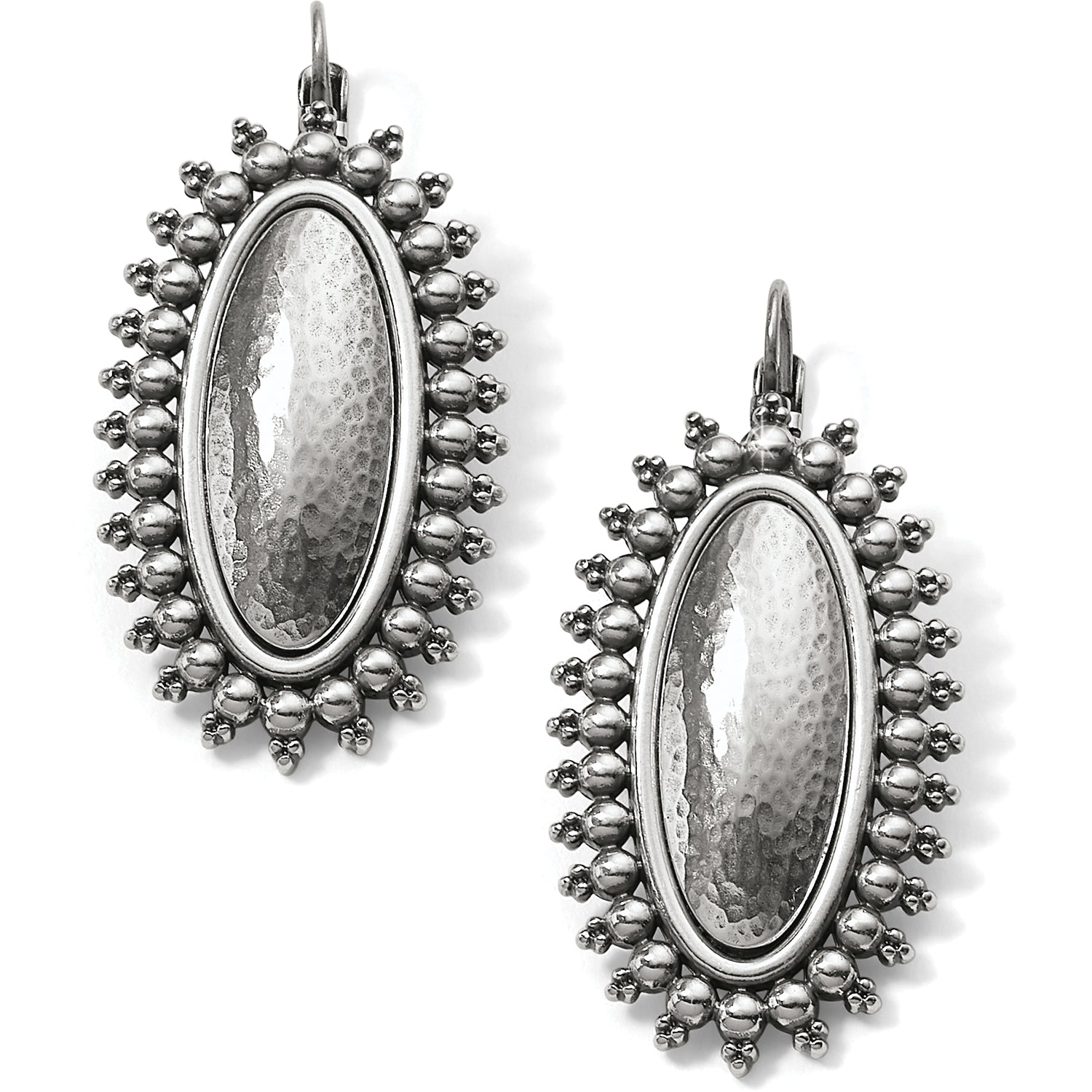 Brighton Jewelry Telluride Leverback Earrings. At once elegantly sporty and lively, this jewelry collection offers two old-world handcrafting techniques--hammering and granulation. These statement-making drops lend an instant Boho vibe to your look.
