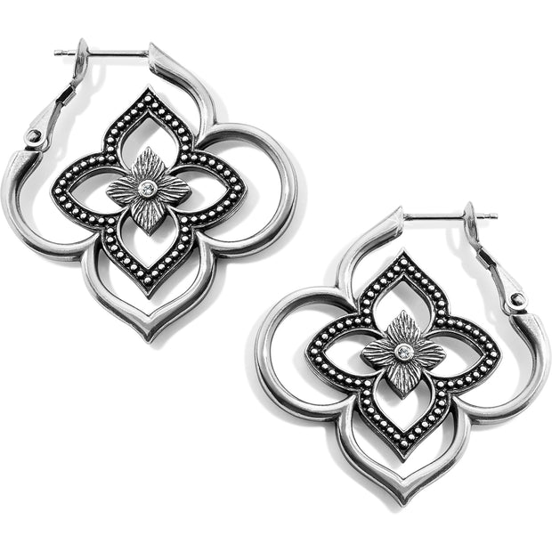 Brighton Jewelry Toledo Collection Hoop Earrings. Drawing from the original inspiration, these earrings have Moorish influences with a floral twist. As part of the Brighton Toledo Collection, they will look great with any of Brighton's other Toledo jewelry.