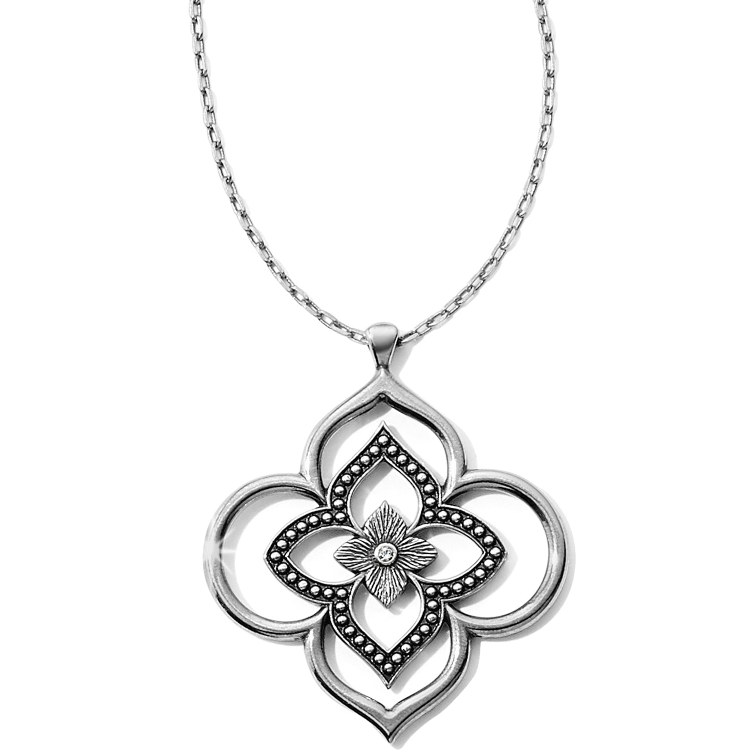 Brighton Jewelry Toledo Collective Pendant Necklace Drawing from its original inspiration, this pendant necklace has Moorish influences with a floral twist. As part of the Brighton Toledo Collective, it will look great layered with any of our other Toledo jewelry.