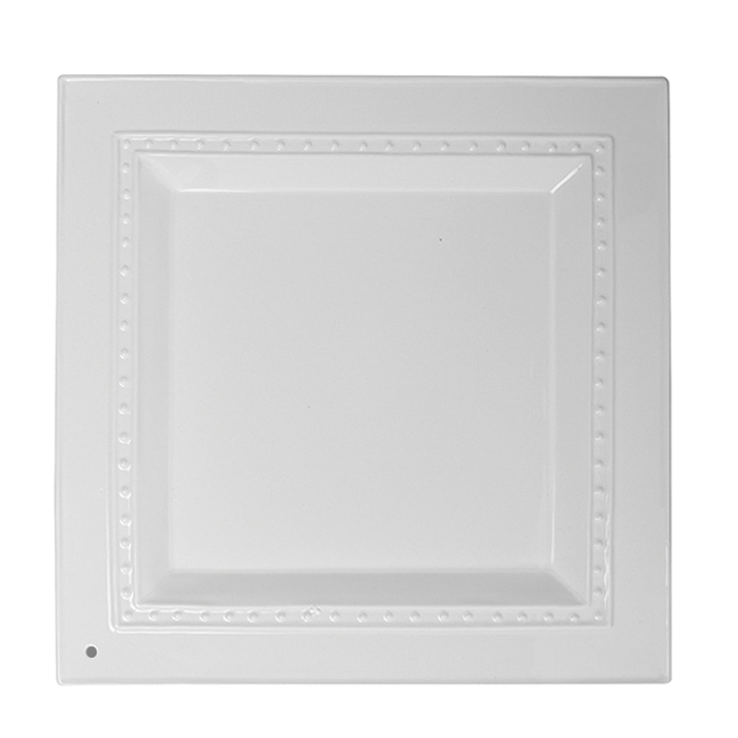 The perfect classic entertaining piece! Clean and modern this square platter can hold it all!