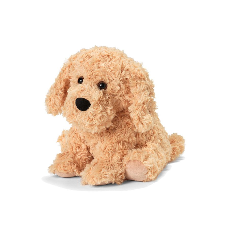 The Warmies Golden dog is a fun, fully microwavable stuffed animal made from luxurious soft plush. Entirely safe to hold right after heating. The Golden Dog is gently scented with French lavender that is carefully sourced from local growers in Provence.