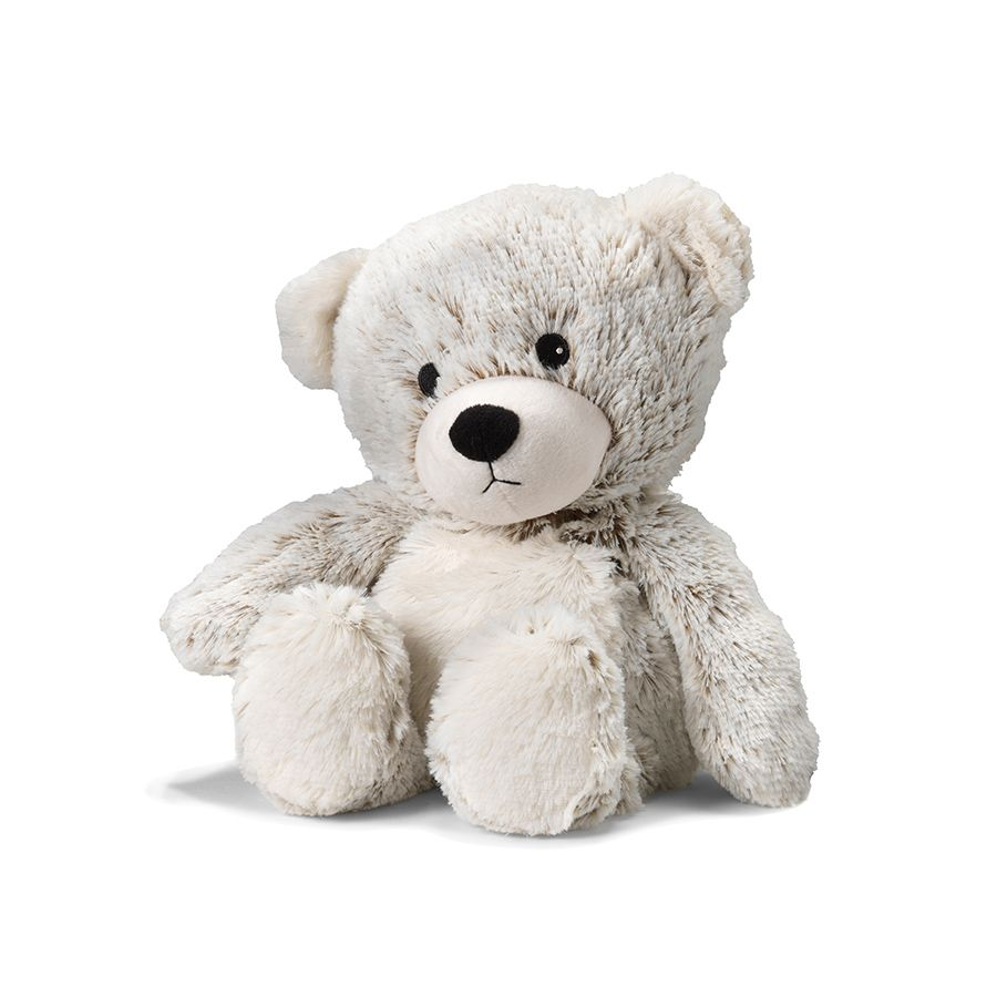 The Warmies Marshmallow Teddy is a fun, fully microwavable stuffed animal made from luxurious soft plush. Entirely safe to hold right after heating. The Marshmallow Teddy is gently scented with French lavender that is carefully sourced from local growers in Provence.