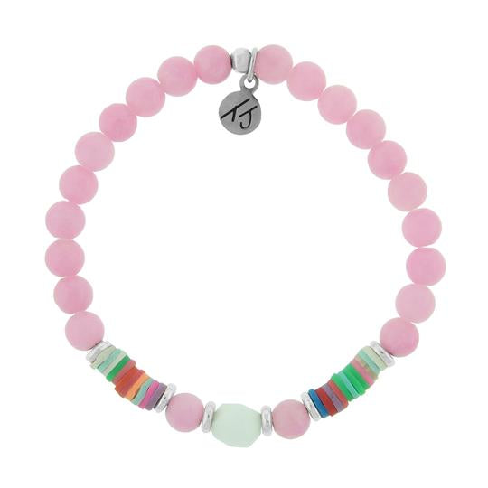 Pink Jade is known as the stone of beauty, tranquility, and happiness.   Positive Vibes Collection - Radiate positivity, be kind and seek what makes your soul shine. There are so many reasons to be happy!