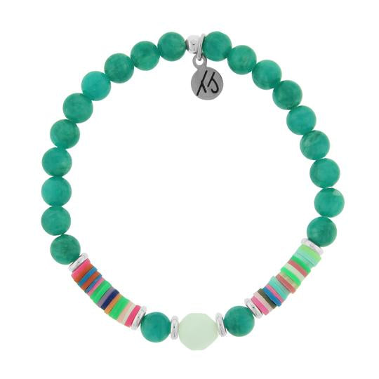 Teal Jade is known as the stone to encourage dreams and visions.  Positive Vibes Collection - Radiate positivity, be kind and seek what makes your soul shine. There are so many reasons to be happy!