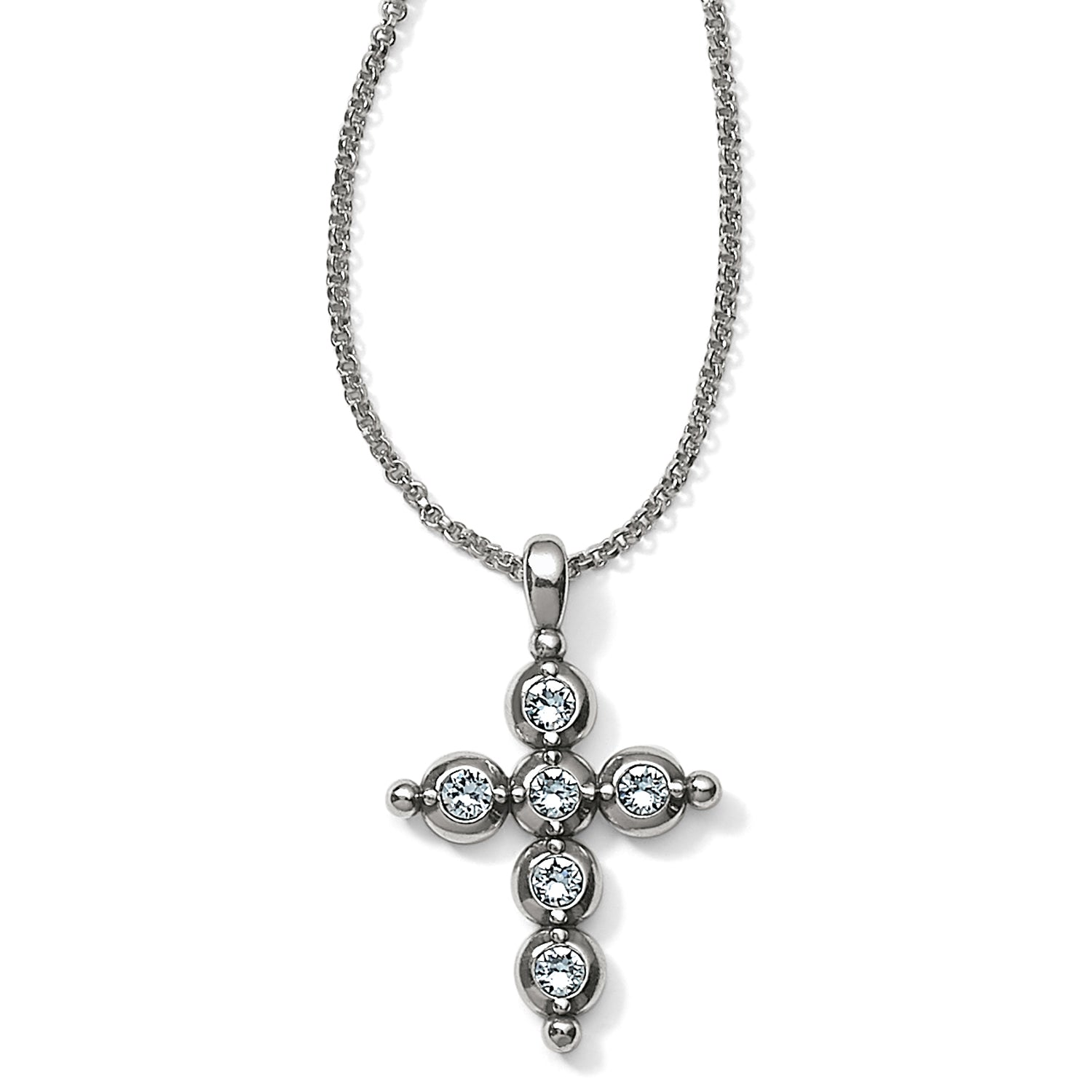 Brighton Light Of Life Cross Necklace Silver