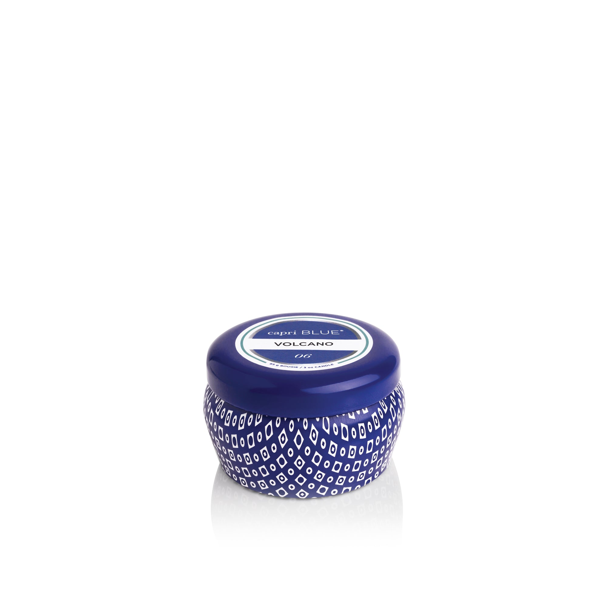 This Capri Blue 3oz little lady is perfect for getaways, trial or if you want every fragrance without breaking the bank!  In Signature Blue tin.