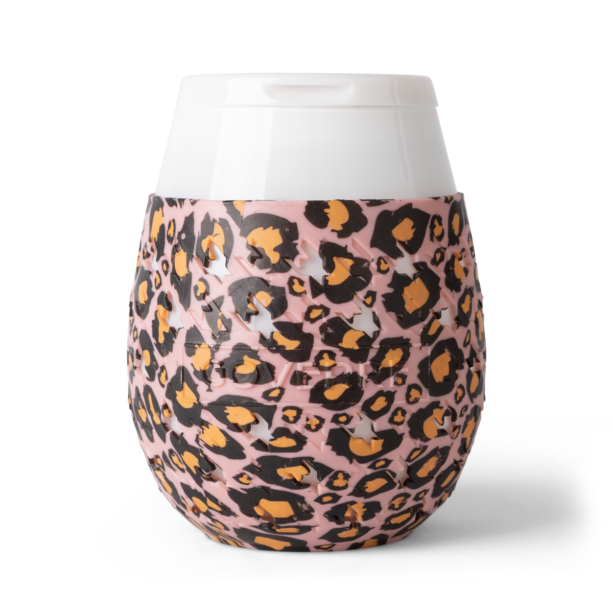 Goverre Portable Stemless Wine Glass - Pink Leopard