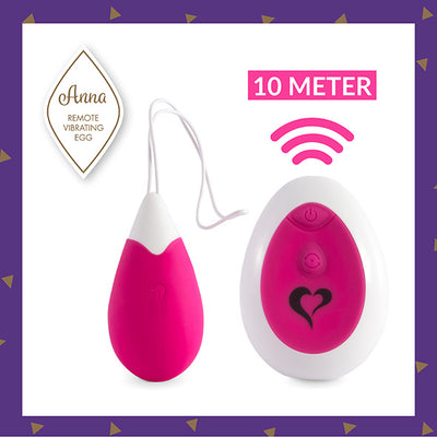 FeelzToys - Anna Vibrating Egg Remote Deep Pink