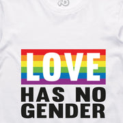 NO GENDER TEE: WHITE