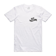 MACHINE TEE: WH BK