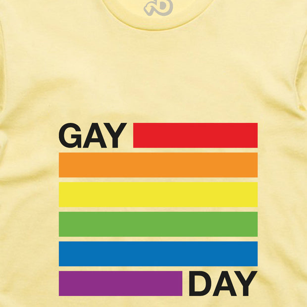 GAY DAY TEE: YELLOW