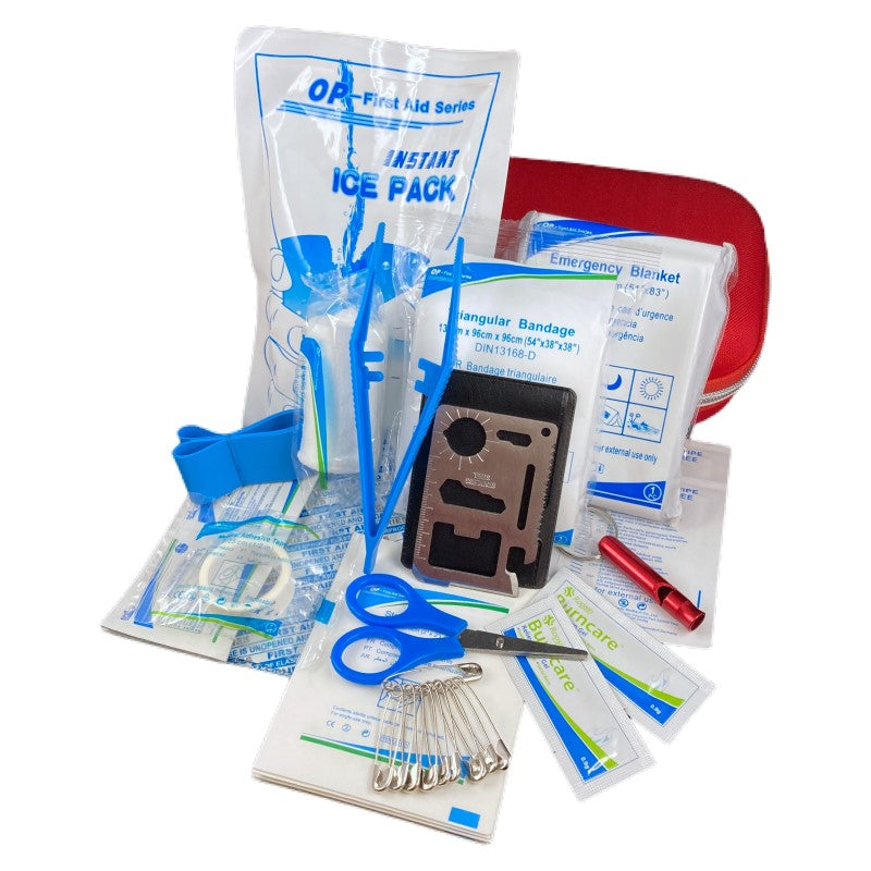 First Aid Kit with Pocket Survival Tool