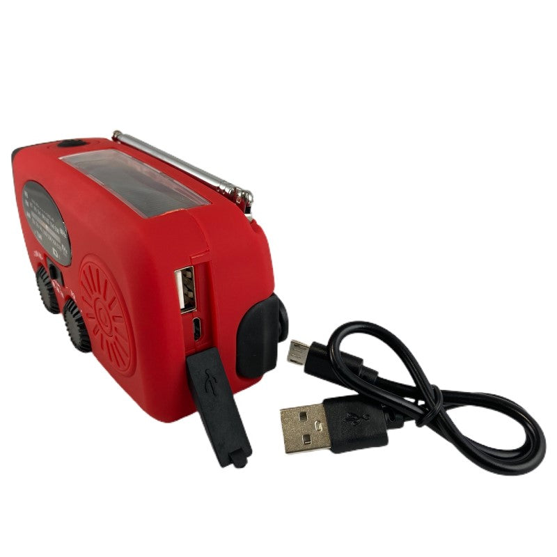 Emergency Solar Crank AM/FM Radio with LED Torch Flashlight & 1200mAh Power Bank