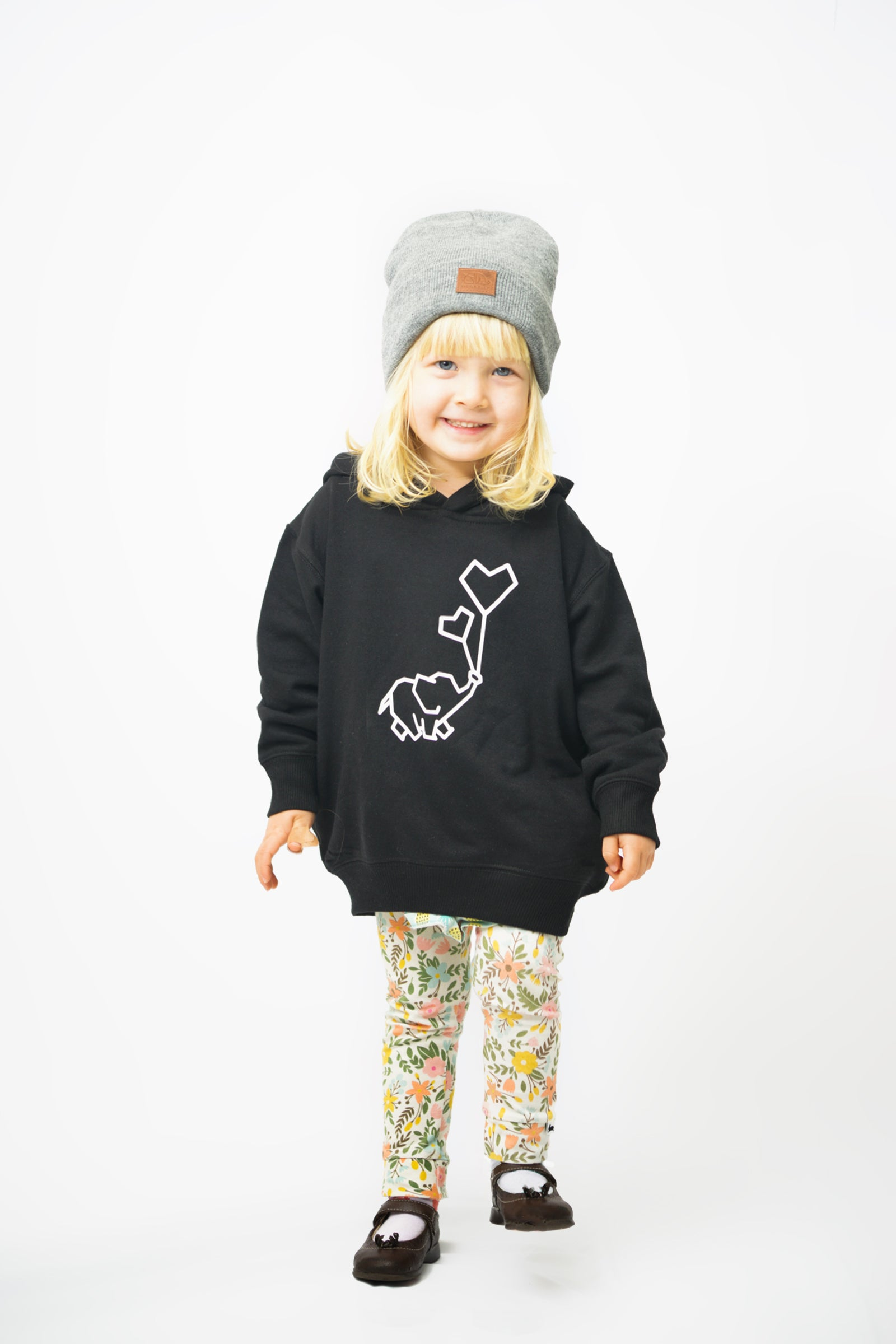 Toddler Balloon Hoodie Black