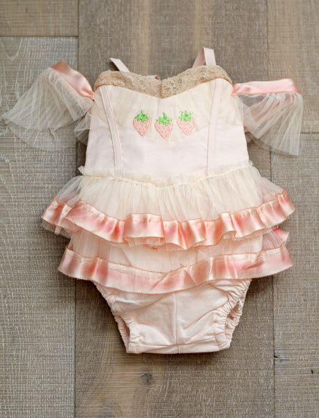 Strawberry Play Romper