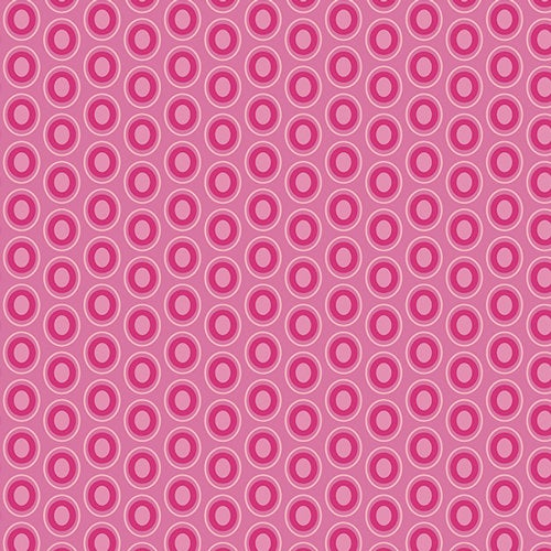Art Gallery Fabrics Oval Elements Premium Quilting Quilt 100% Cotton Fabric Sold by the Yard Modern OE-935 Polka Dots Passionate Fuchsia