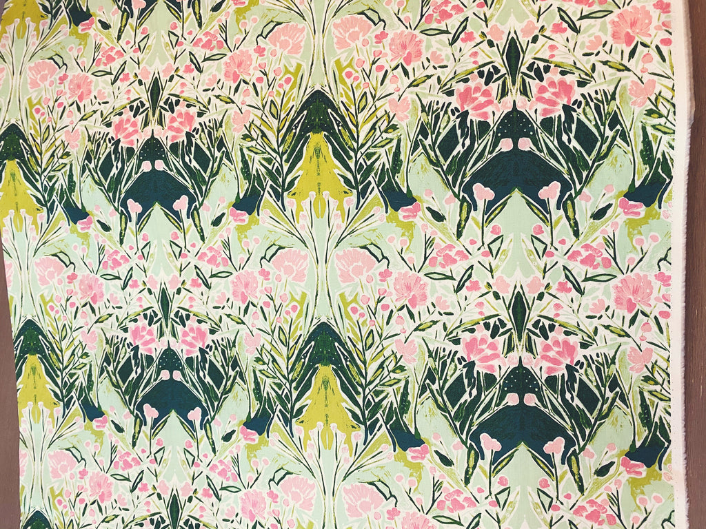 Art Gallery Fabrics Boho Bloomsbury Bari J Premium Pima Quilting Quilt 100% Cotton Fabric Sold by Yard Sage BLB-54724 Ms Woolf Freshwater