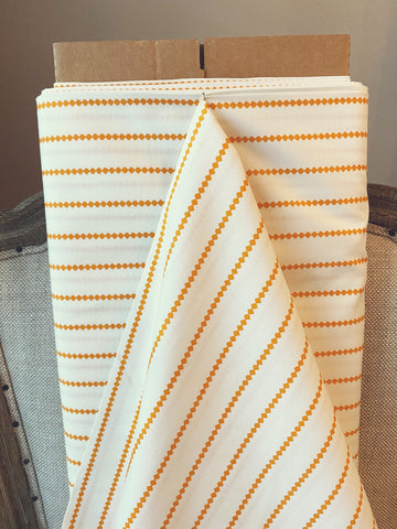 Art Gallery Fabrics Seaside Stripes Tangerine Summerside Summer Side Premium Quilting Quilt Cotton Fabric Sold by Yard SMS-73207