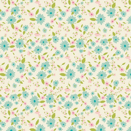 Art Gallery Fabrics Joie de Vivre Bari J Premium Pima Quilting Quilt 100% Cotton Fabric Sold by the Yard Petit Potpourri Azur JOI-89123