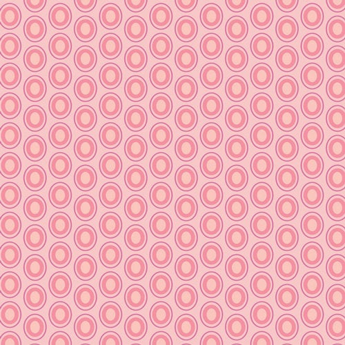 Art Gallery Fabrics Oval Elements Premium Pima Quilting Quilt 100% Cotton Fabric Sold by the Yard Modern OE-922 Parfait Pink Polka Dots