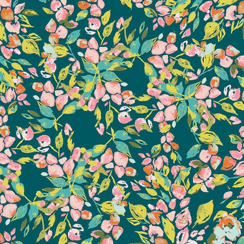 Art Gallery Fabrics Bougainvillea Evergreen Bari J Premium Pima Quilting Quilt 100% Cotton Fabric Sold by the Yard Sage SGE-14452