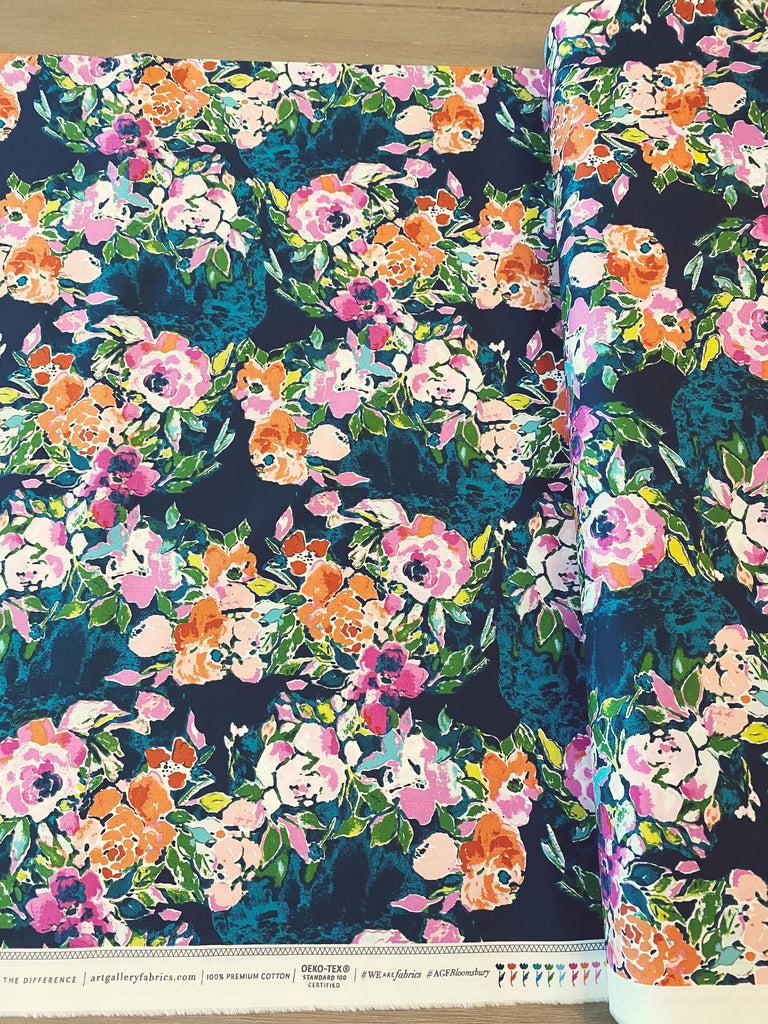 Art Gallery Fabrics Boho Bloomsbury Bari J Premium Pima Quilting Quilt Cotton Fabric Sold by Yard Sage BLB-54721 Botanists Essay Bohemian
