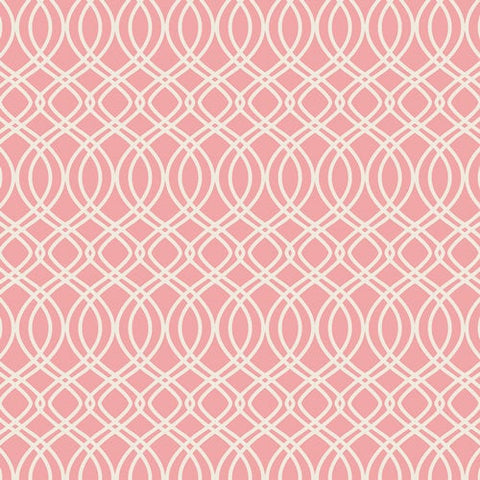 Art Gallery Fabrics Bloomsbury Bari J Premium Pima Quilting 100% Cotton Fabric Sold by the Yard Knotted Trellis Pink Parfait New BLB-44722