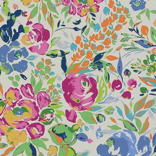 Indigo & Aster Bari J La Floraison Lit Art Gallery Fabrics Premium Pima Quilting Quilt 100% Cotton Fabric Sold by the Yard IDA-14800