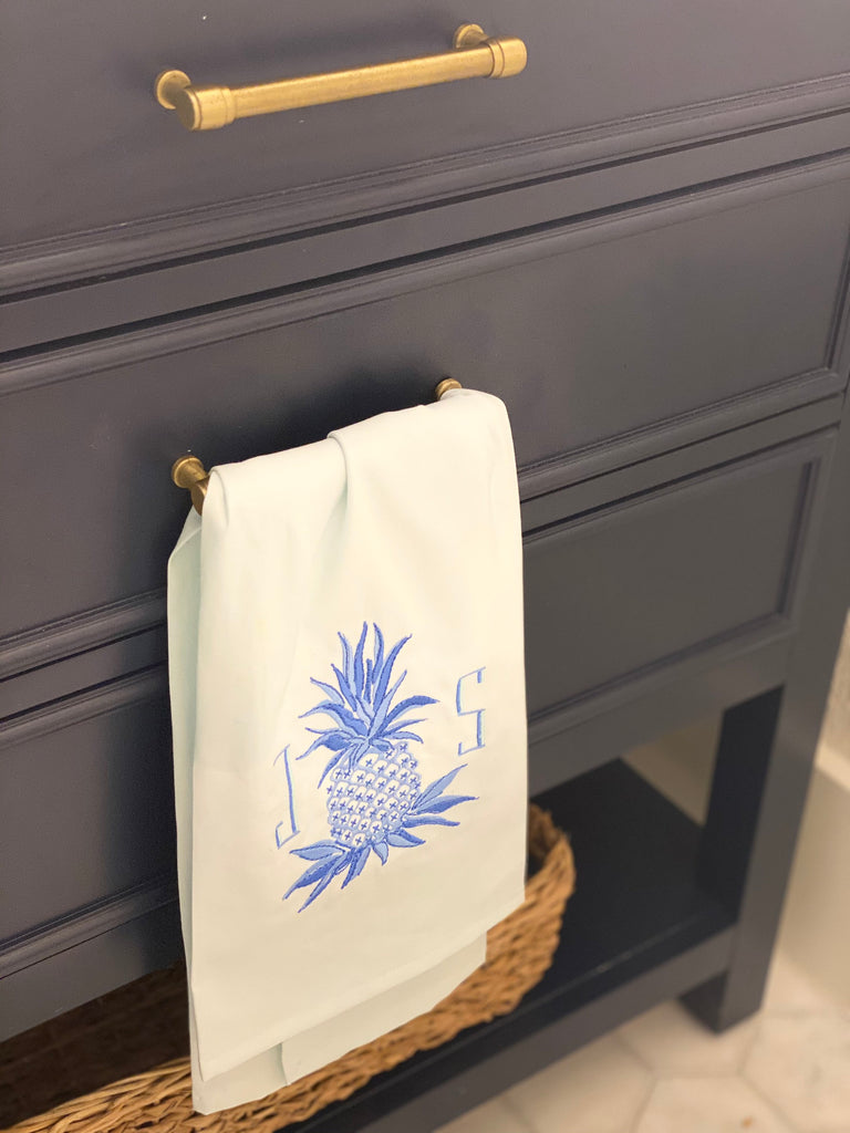 Pineapple Premium Luxury Monogrammed Personalized Guest Towel