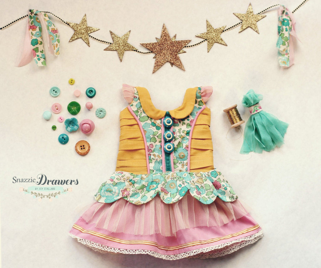 Doll PDF Dress Girls Sewing Pattern Lucy Star Intermediate