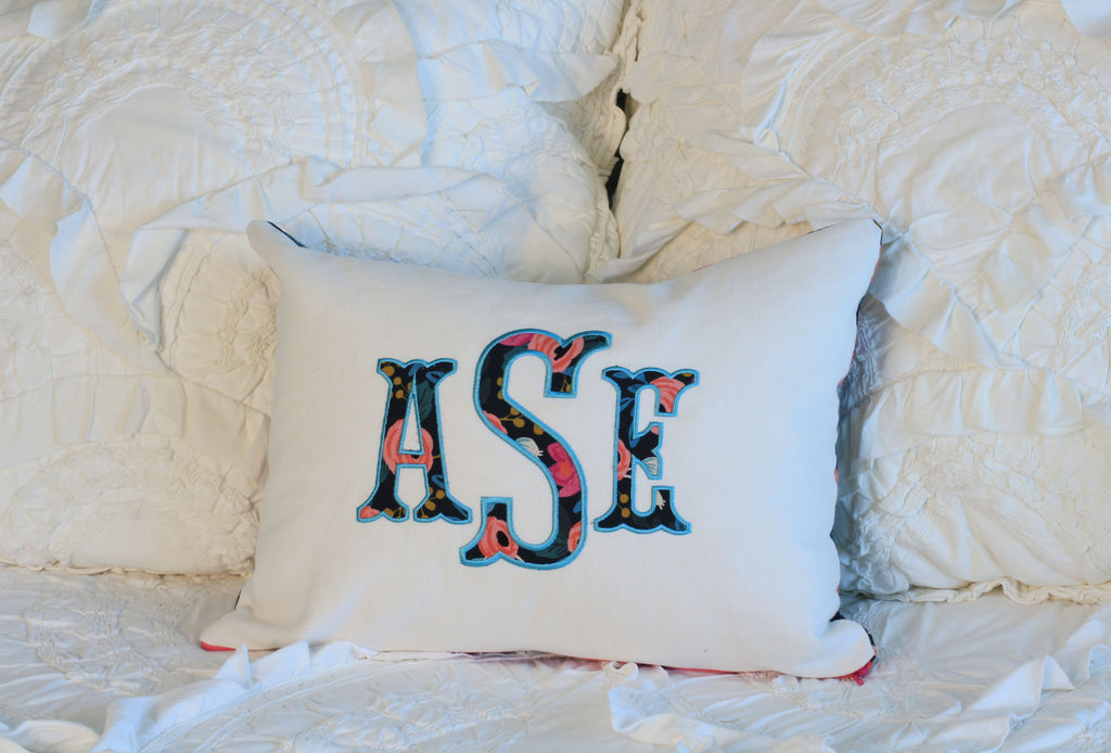 Monogrammed Custom Sleepover Pillow