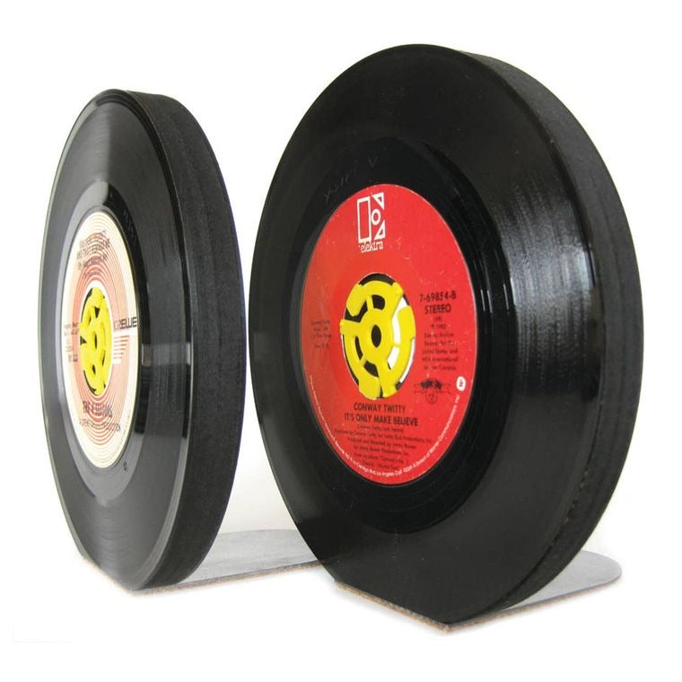 Vintage Recycled 45RPM Vinyl Record Bookends