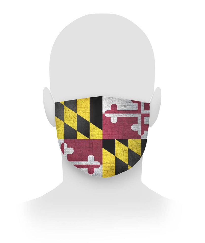 Maryland Flag Face Mask Cloth Face Mask