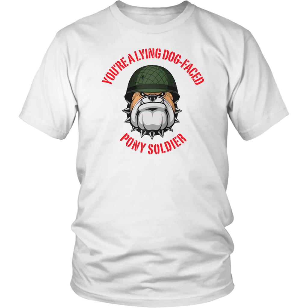 Lying dog-faced pony soldier Raglan Baseball Shirt