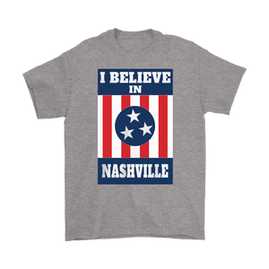 I BELIEVE IN NASHVILLE Mural Mens Shirt