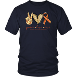 Peace Love Cure Multiple Sclerosis Awareness T-Shirt